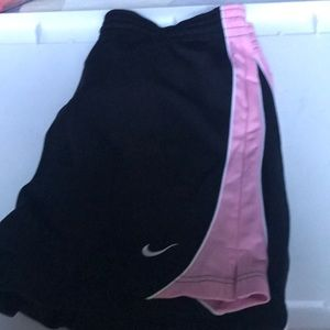 NWT Nike Women's Athetic Shorts Black Pink Accent